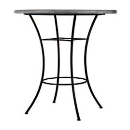 KNF Black Olives Round High Dining Table