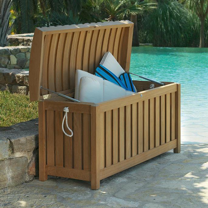 Teak Cushion Storage Box