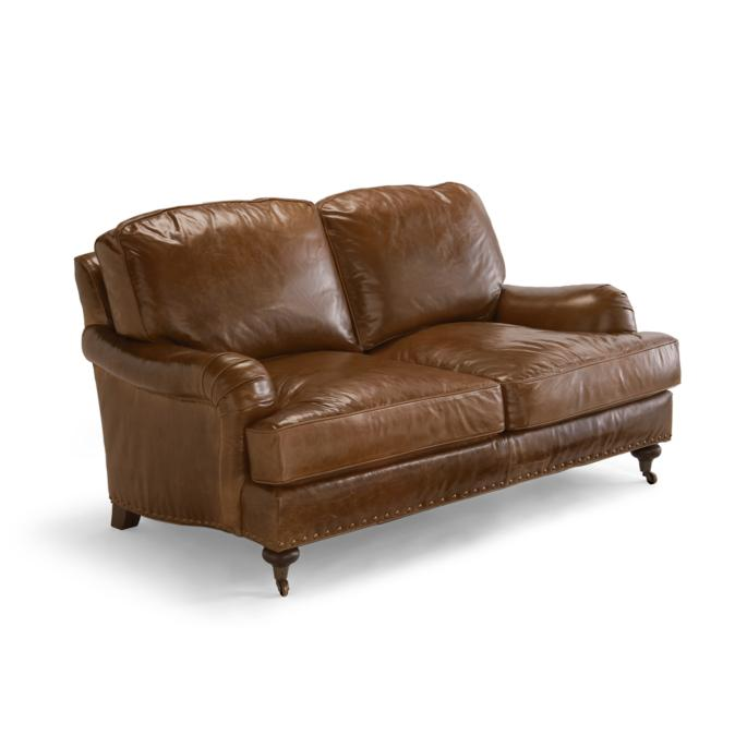 Cool Blake Leather Loveseat Frontgate Ncnpc Chair Design For Home Ncnpcorg
