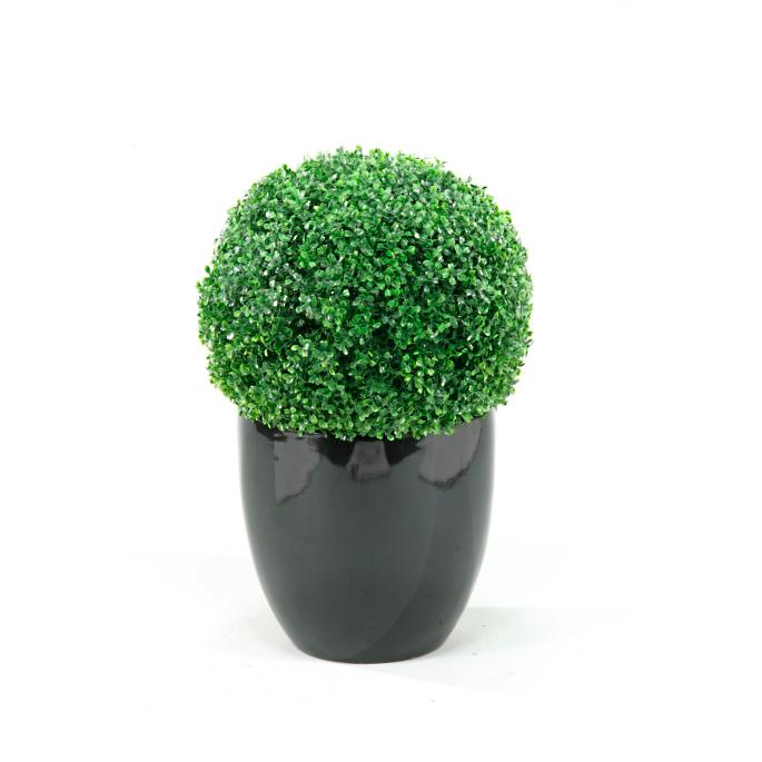 Boxwood Ball In Resin Planter Frontgate