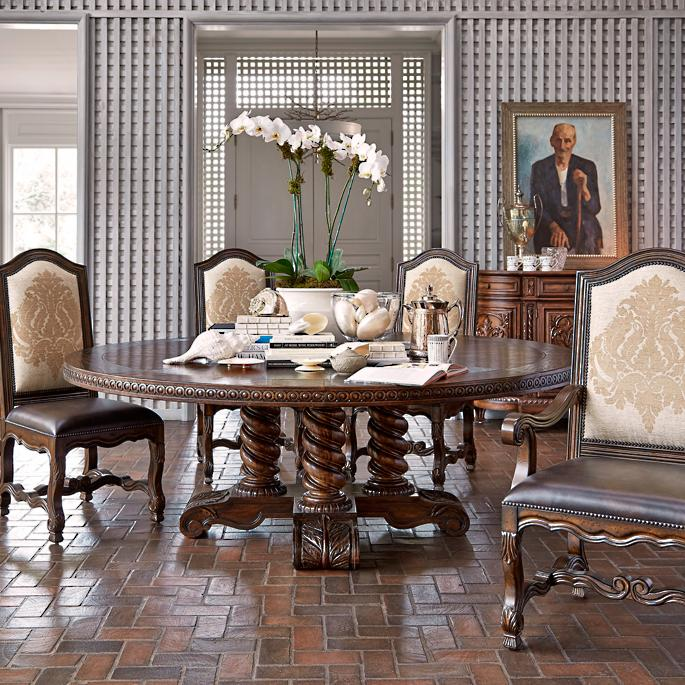 High End Dining Room Tables: Castilian Round Dining Table