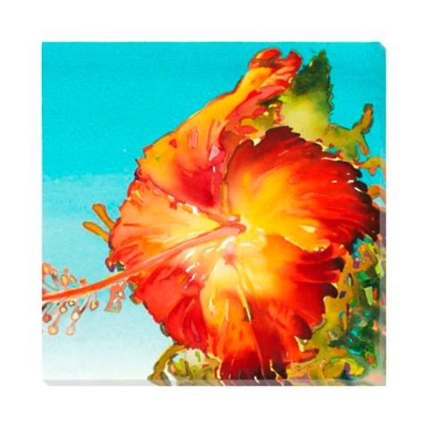 Orange Hibiscus Wall Art | Frontgate