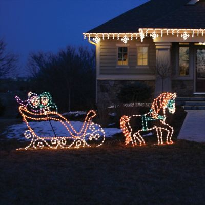 Lighted Victorian Horse And Sleigh Frontgate