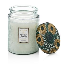 Voluspa French Cade and Lavender Glass Candle
