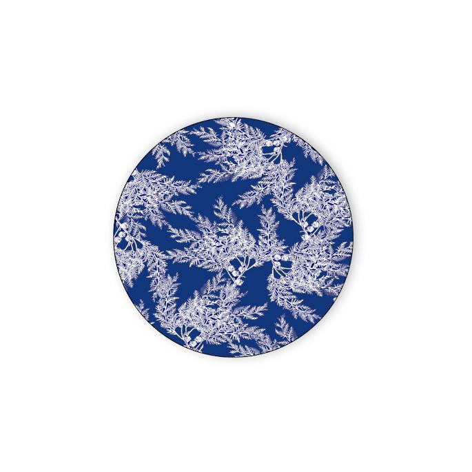 Blue Cedar Melamine Tidbit Plates Coasters Set Of Four