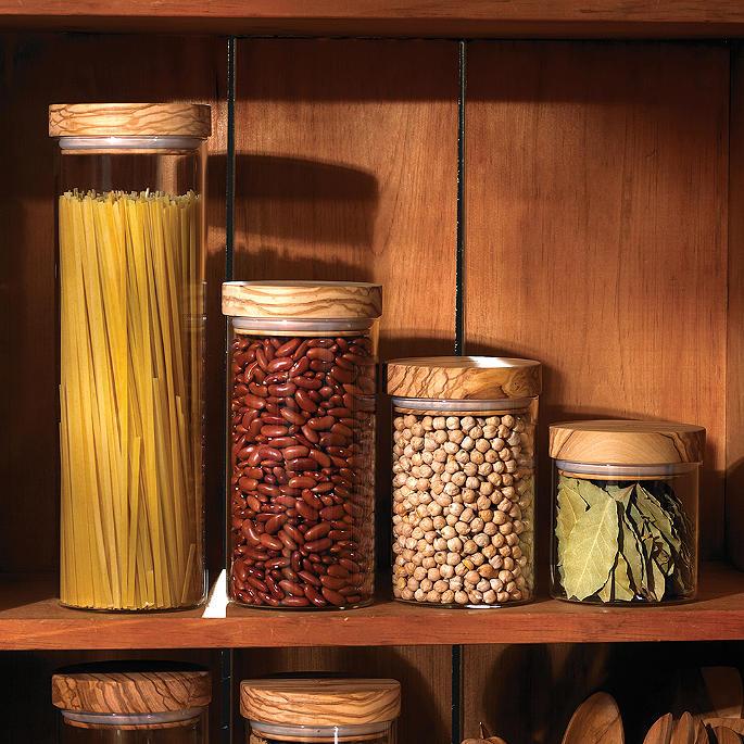 Olivewood Lid Glass Jars Frontgate