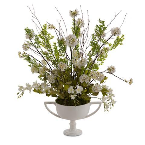 White silver floral arrangement frontgate white silver floral arrangement mightylinksfo