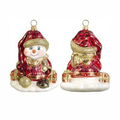 Glitterazzi Czech Snowman Ornament Frontgate