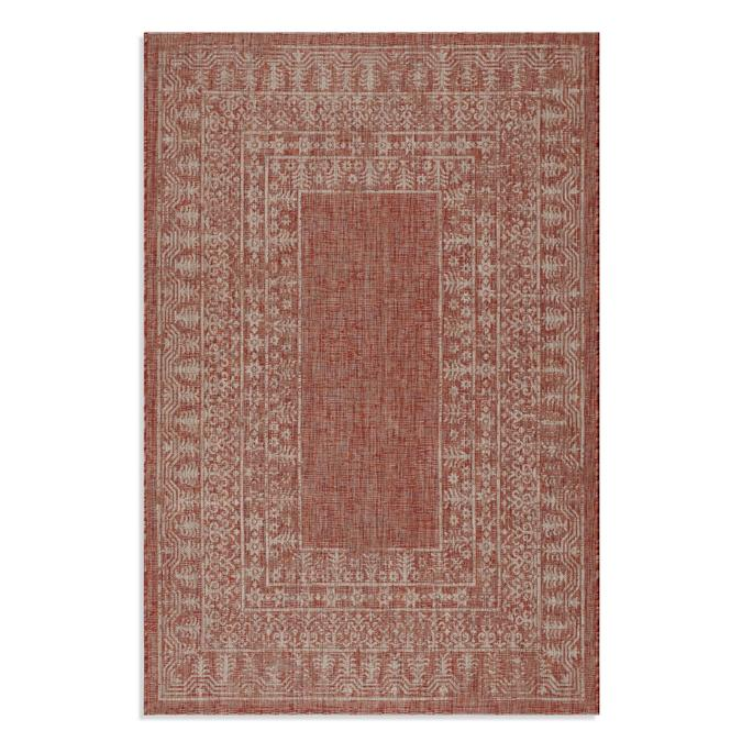 St Lucia Border Indoor Outdoor Rug Frontgate