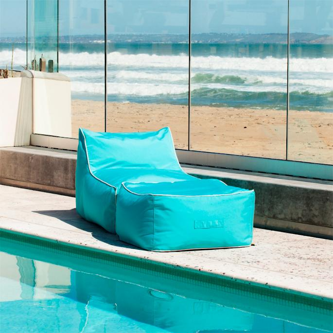 Pleasing Indoor Outdoor Bean Bag Lounger With Ottoman Frontgate Cjindustries Chair Design For Home Cjindustriesco