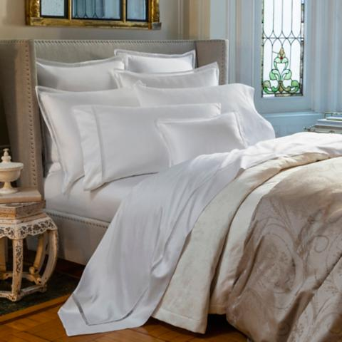 ITALY SFERRA GIZA 45 LACE EGYPTIAN COTTON  PILLOW SHAM WITH LACE-INSET