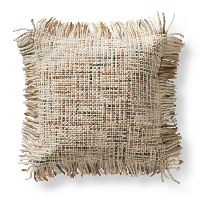 Cynthia Rowley Fringe Pillows: Nico Wool Fringe Decorative Pillow