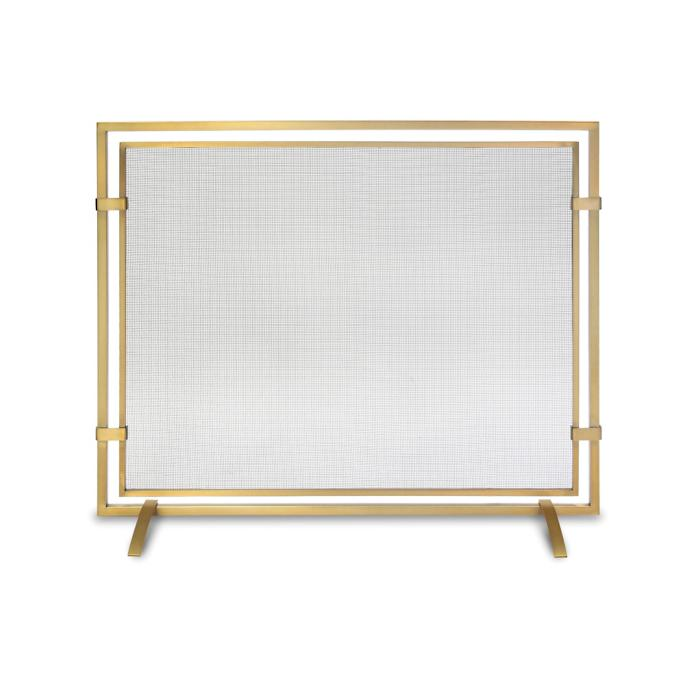 Sinclair Single Panel Fireplace Screen Frontgate