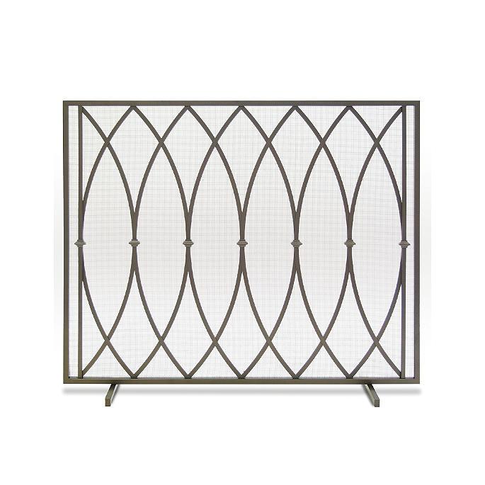 Addison Single Panel Fireplace Screen Frontgate