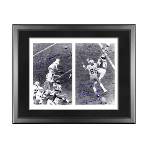 low priced a7cf9 6698d Dallas Cowboys Roger Staubach and Drew Pearson Signed Photo