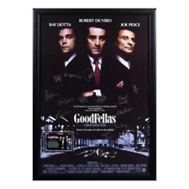 Goodfellas Signed Movie Poster, 17 Autographs