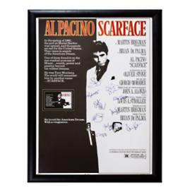 Scarface Signed Movie Poster, 10 Autographs