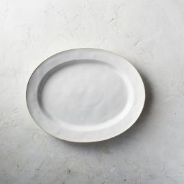 Costa Nova Astoria Oval Serving Platter in White