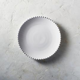 Costa Nova Pearl Dinner Plates in White, Set