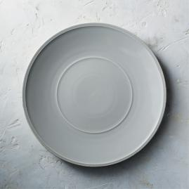 Costa Nova Friso Charger Plates in Grey, Set