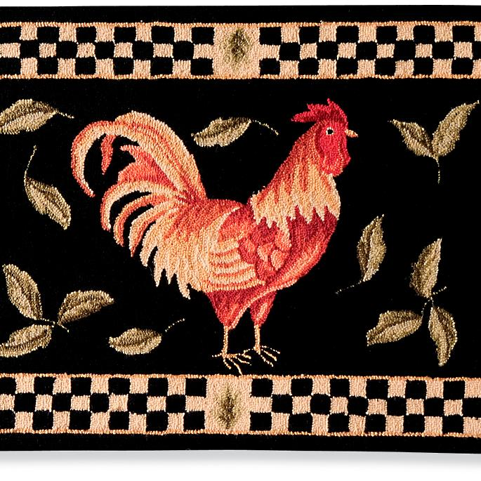 Checkered Rooster Area Rugs Frontgate
