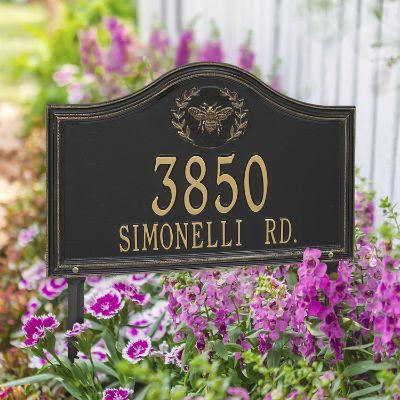 Designer Arch Lawn Address Plaque Frontgate