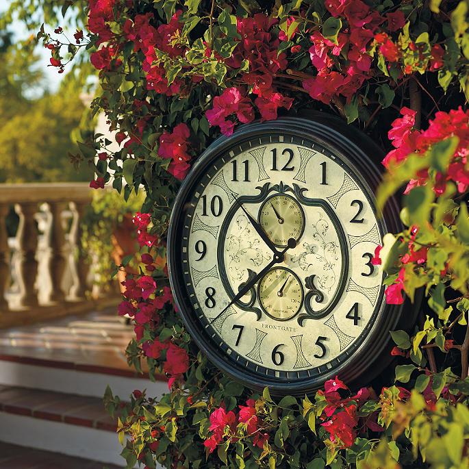 Lavina Outdoor Clock Frontgate