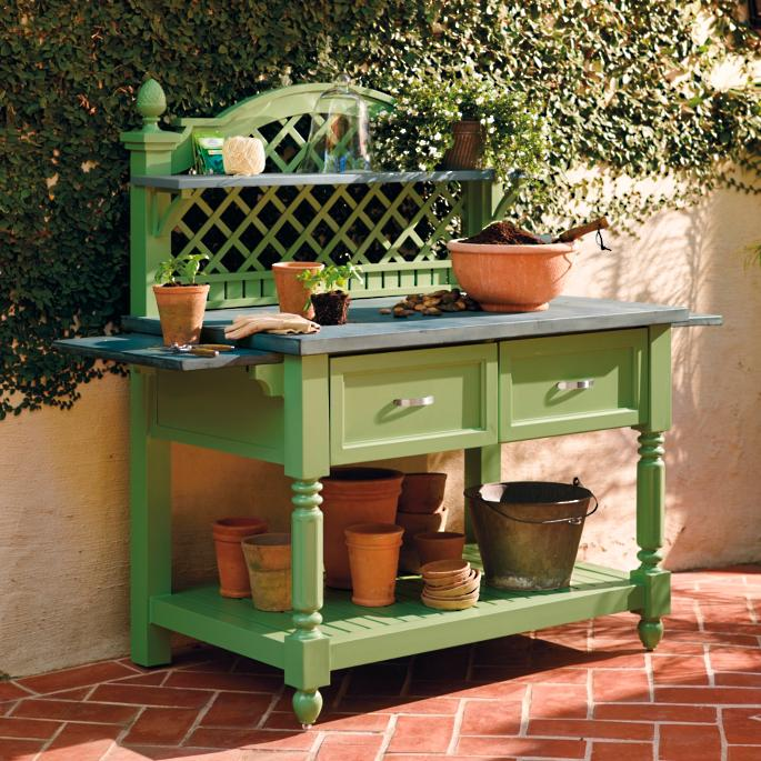 Caroline Potting Bench Frontgate
