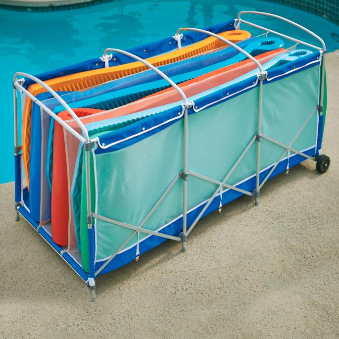 Collapsible Pool Float Storage with Cover