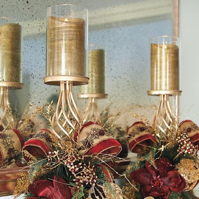 Set Of Two Plaza Candle Holders Frontgate