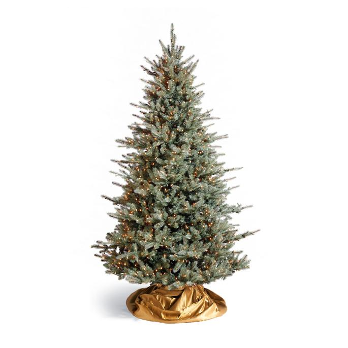 Colorado Blue Spruce Artificial Pre-lit Christmas Tree - Colorado Blue Spruce Artificial Pre-lit Christmas Tree Frontgate