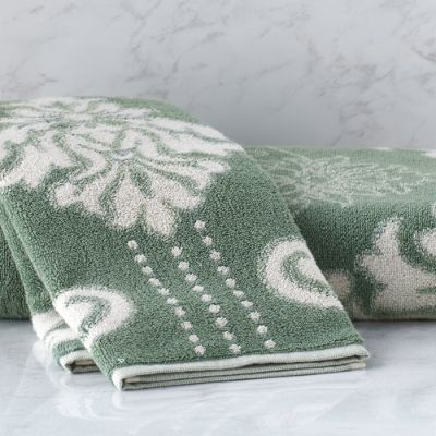 Blythe Two Tone Damask Hand Towel Frontgate