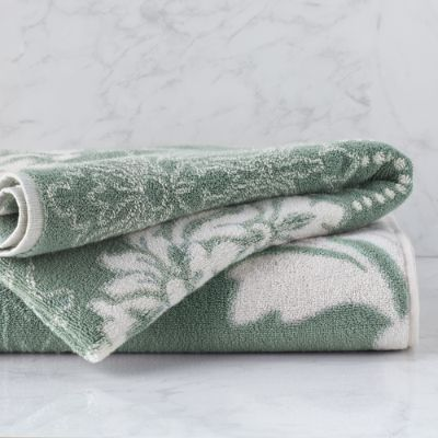 Blythe Two Tone Damask Bath Towel Frontgate