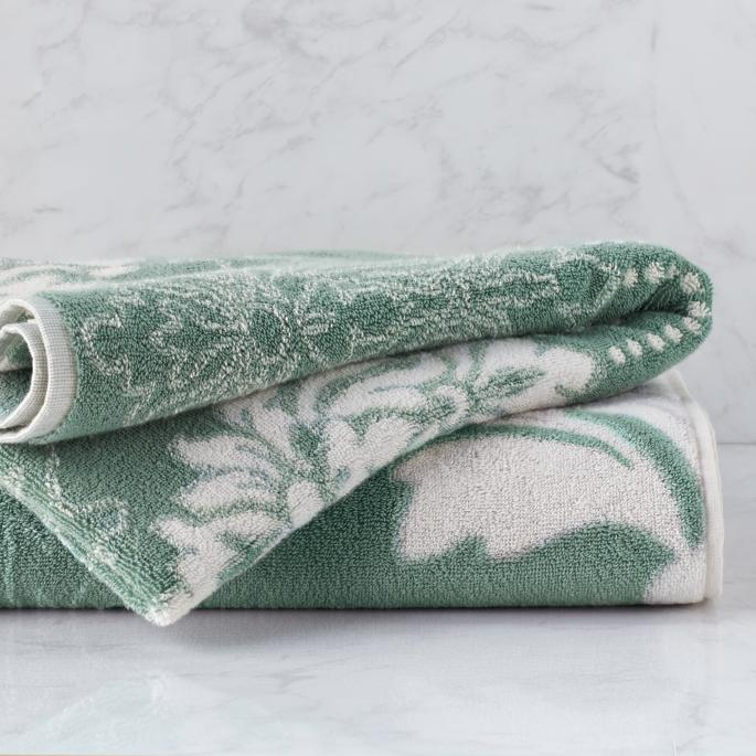 Blythe Two Tone Damask Bath Towel Frontgate