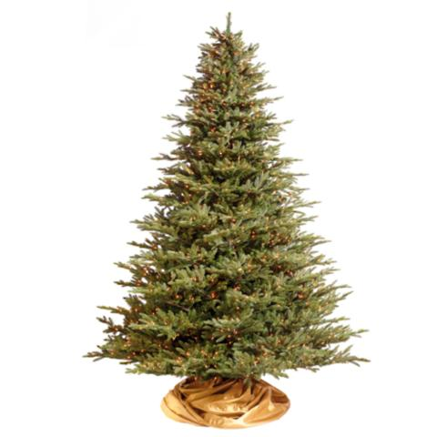 Deluxe Fraser Artificial Christmas Tree with Commercial Lights