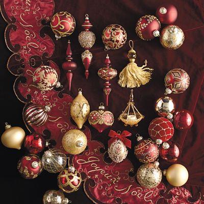 60 Pc Joyeux Noel Ornament Collection Frontgate