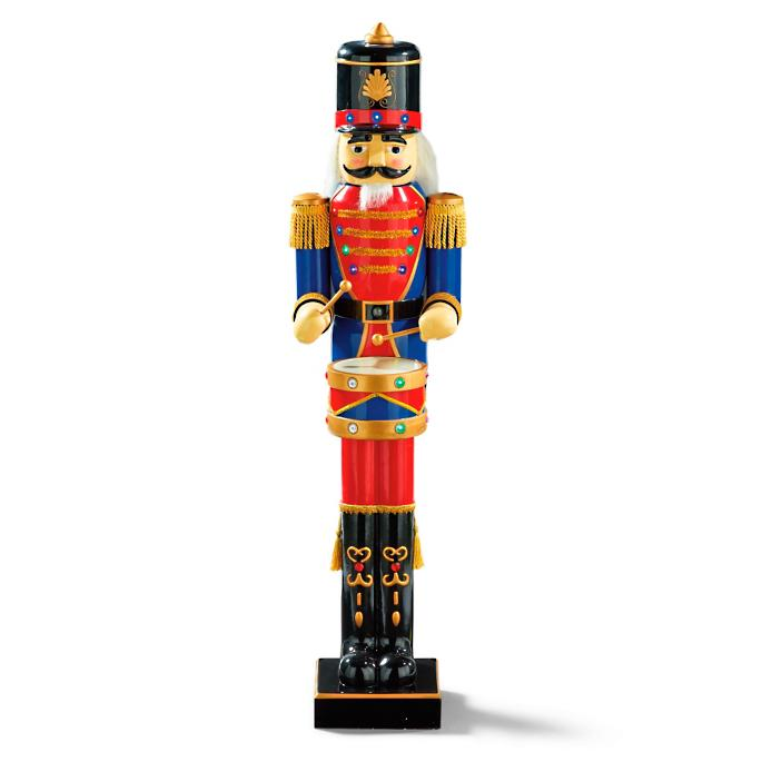 Animated 5 Ft Nutcracker Drummer Frontgate