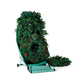 Rolling Wreath and Garland Caddy