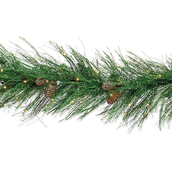 Icy Pine Mini Light Led Garland Frontgate