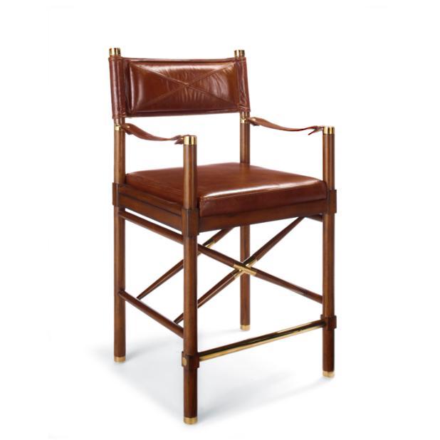 Strange Borneo Counter Stool 25 3 4H Seat Frontgate Uwap Interior Chair Design Uwaporg