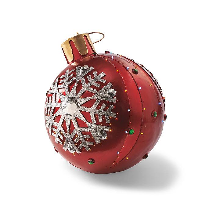 Red Large Fiber-optic Ornament | Frontgate