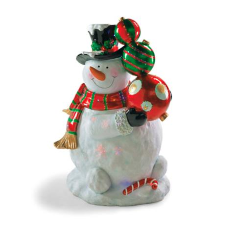 fiber optic 4 ft snowman - Fiber Optic Snowman Christmas Decorations