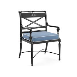 Double-Piped Outdoor Chair Cushion with Cording