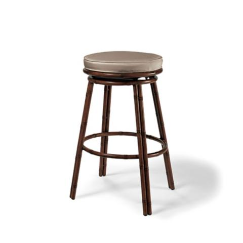 St. Martin Tiki Bar Stools With Cushions, Set Of Two