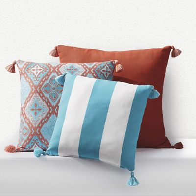 Outdoor Square Pillow With Tassels Frontgate