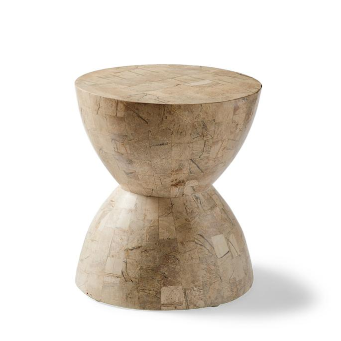 Amazing Hourglass Stone Accent Stool Creativecarmelina Interior Chair Design Creativecarmelinacom