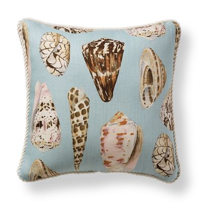 Scalamandre Coquina Sea Blue Outdoor Pillow Frontgate