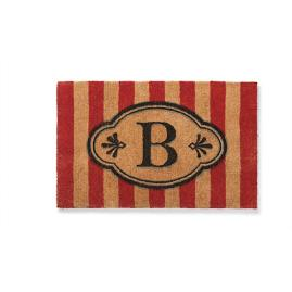 Ameile Red Cabana Stripe Monogrammed Mat