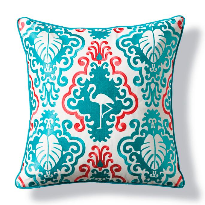 Sunbrella 174 Flamingo Palms Outdoor Pillow Frontgate