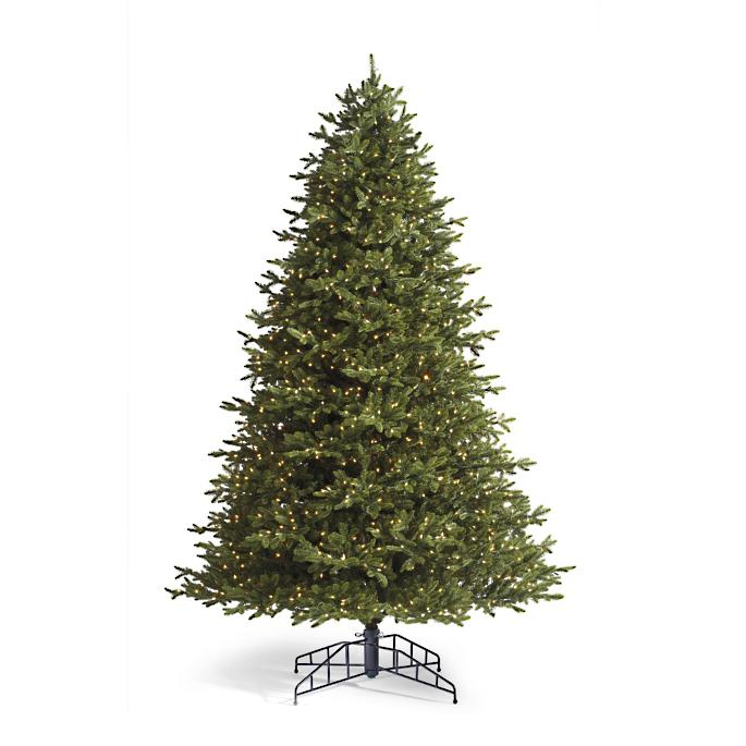 brand new 8a2f3 8464a Grand Noble 10-ft. Artificial Pre-lit Christmas Tree with ...
